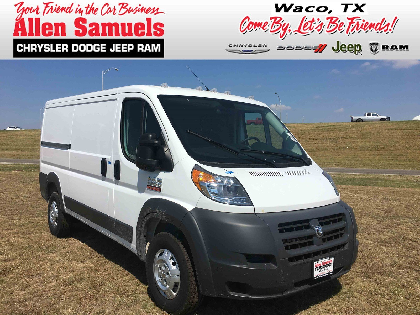 new 2017 ram promaster cargo van cargo van in waco 17t70019 allen samuels dodge chrysler jeep ram. Black Bedroom Furniture Sets. Home Design Ideas